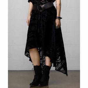 Denim & Supply Velvet Burnout Midi Skirt